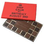 [Crown] keep calm my birthday august 3rd  Chocolate Box 45 Piece Box Of Chocolates