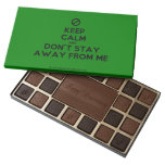 [No sign] keep calm and don't stay away from me  Chocolate Box 45 Piece Box Of Chocolates