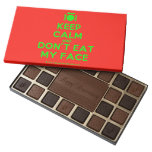 [Cutlery and plate] keep calm and don't eat my face  Chocolate Box 45 Piece Box Of Chocolates