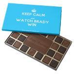 [Crown] keep calm and watch brady win  Chocolate Box 45 Piece Box Of Chocolates