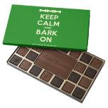 [Dogs bone] [Dogs bone] [Dogs bone] keep calm and bark on  Chocolate Box 45 Piece Box Of Chocolates