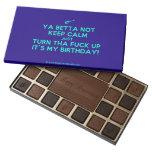 [Electric guitar] ya betta not keep calm just turn tha fuck up it's my birthday!  Chocolate Box 45 Piece Box Of Chocolates