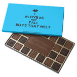 [Two hearts] i #love b5 hot tall boys that melt  Chocolate Box 45 Piece Box Of Chocolates