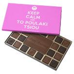 [Smile] keep calm and to poulaki tsiou  Chocolate Box 45 Piece Box Of Chocolates