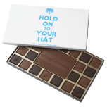 [Crown upside down] hold on to your hat  Chocolate Box 45 Piece Box Of Chocolates