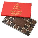 [Crown] keep calm and follow thierry  Chocolate Box 45 Piece Box Of Chocolates