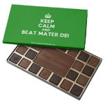[Crown] keep calm and beat mater dei  Chocolate Box 45 Piece Box Of Chocolates