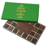 [Knitting crown] keep calm and knit on  Chocolate Box 45 Piece Box Of Chocolates