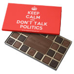 [Crown] keep calm and don't talk politics  Chocolate Box 45 Piece Box Of Chocolates