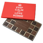 [Crown] keep calm and love robbie  Chocolate Box 45 Piece Box Of Chocolates