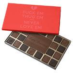 [Broken heart] fuck em thug em and never love em  Chocolate Box 45 Piece Box Of Chocolates