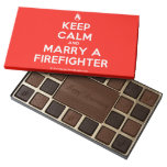 [Campfire] keep calm and marry a firefighter  Chocolate Box 45 Piece Box Of Chocolates