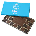 [Crown] keep calm and pray on  Chocolate Box 45 Piece Box Of Chocolates