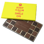 [Smile] keep calm and smile on  Chocolate Box 45 Piece Box Of Chocolates