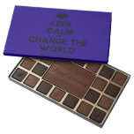 [Two hearts] keep calm and change the world  Chocolate Box 45 Piece Box Of Chocolates