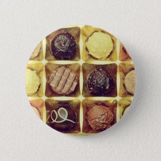 Chocolate box round badge button