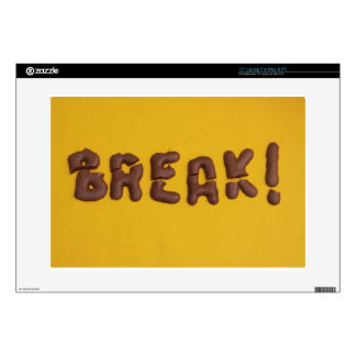 "Chocolate Break 15"" Laptop Skin"