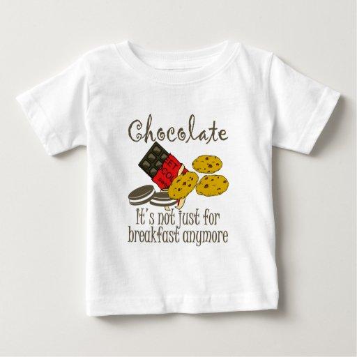 Chocolate Breakfast Funny Baby Shirt