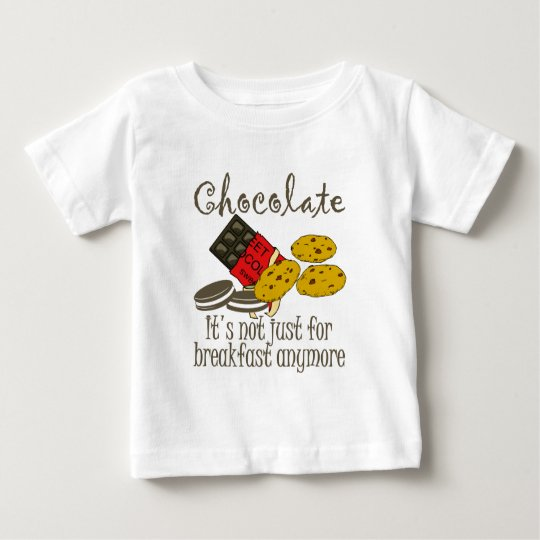 Chocolate Breakfast Funny Baby Shirt