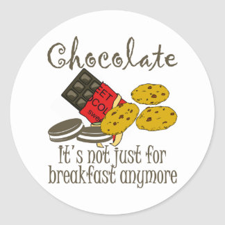 Chocolate Breakfast Funny Stickers