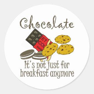 Chocolate Breakfast Funny Stickers