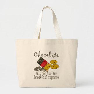Chocolate Breakfast Funny Tote Bag