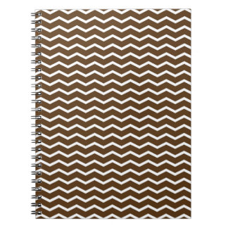 Chocolate Brown and White Chevron Pt68 Notebook