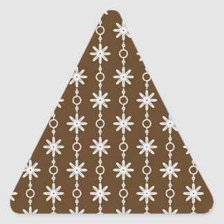 Chocolate Brown and White Pt 63 Triangle Sticker