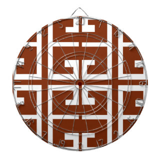 Chocolate Brown and White Spanish Tile Dartboard