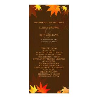 Chocolate Brown Autumn Wedding Program