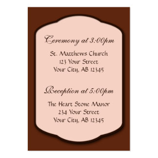 Chocolate Brown & Beige Guest Reference Cards