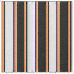[ Thumbnail: Chocolate, Brown, Black, Lavender & Midnight Blue Fabric ]