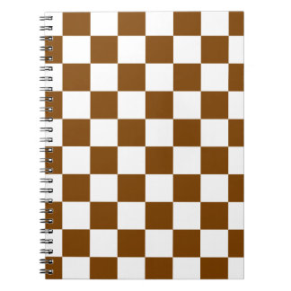 Chocolate Brown Checks Notebook