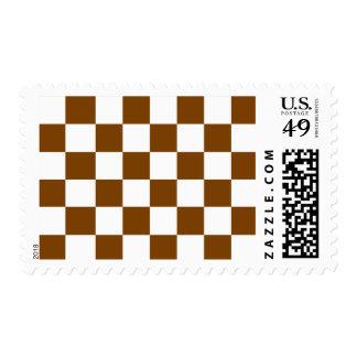 Chocolate Brown Checks Postage