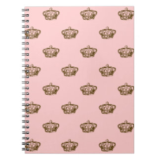 Chocolate Brown Crowns Note Book