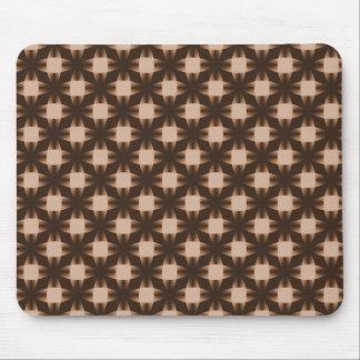 Chocolate Brown Daring Discs Mousepad