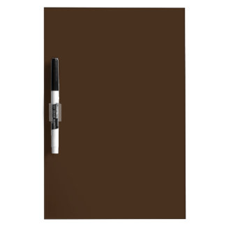 Chocolate Brown - Dark Tree Trunk Brown Color Only Dry Erase Board