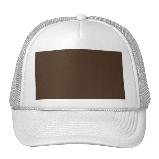 Chocolate Brown - Dark Tree Trunk Brown Color Only Hat