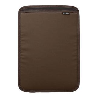Chocolate Brown - Dark Tree Trunk Brown Color Only MacBook Air Sleeves
