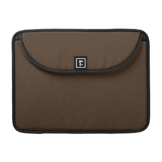 Chocolate Brown - Dark Tree Trunk Brown Color Only MacBook Pro Sleeve