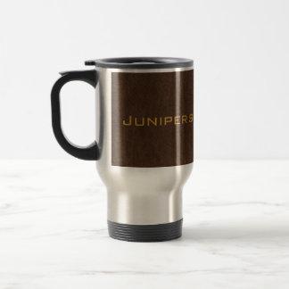 chocolate brown dehim travel mug