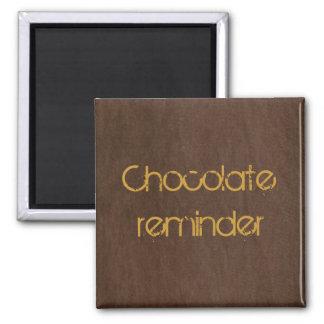chocolate brown denim 2 inch square magnet