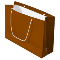 Chocolate Brown Gift Bag - Large, Glossy