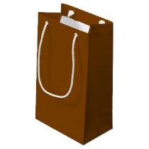 Chocolate Brown Gift Bag - Small, Glossy