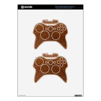 Chocolate brown glitter xbox 360 controller skin