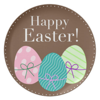 Chocolate Brown Happy Easter Collector Plate