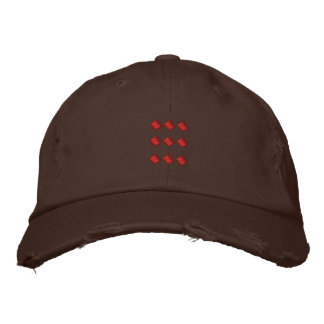 Chocolate Brown Hat With Red Dots Square