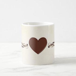 Chocolate Brown Heart Mug