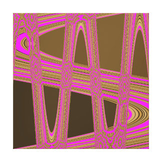 Chocolate Brown Hot Pink Modern Abstract Wave Canvas Print