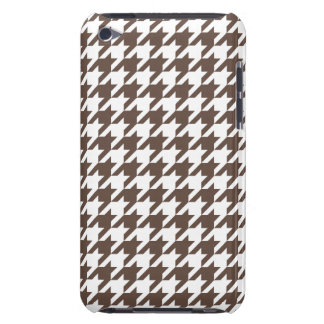 Chocolate Brown Houndstooth iPod Touch Case-Mate Case